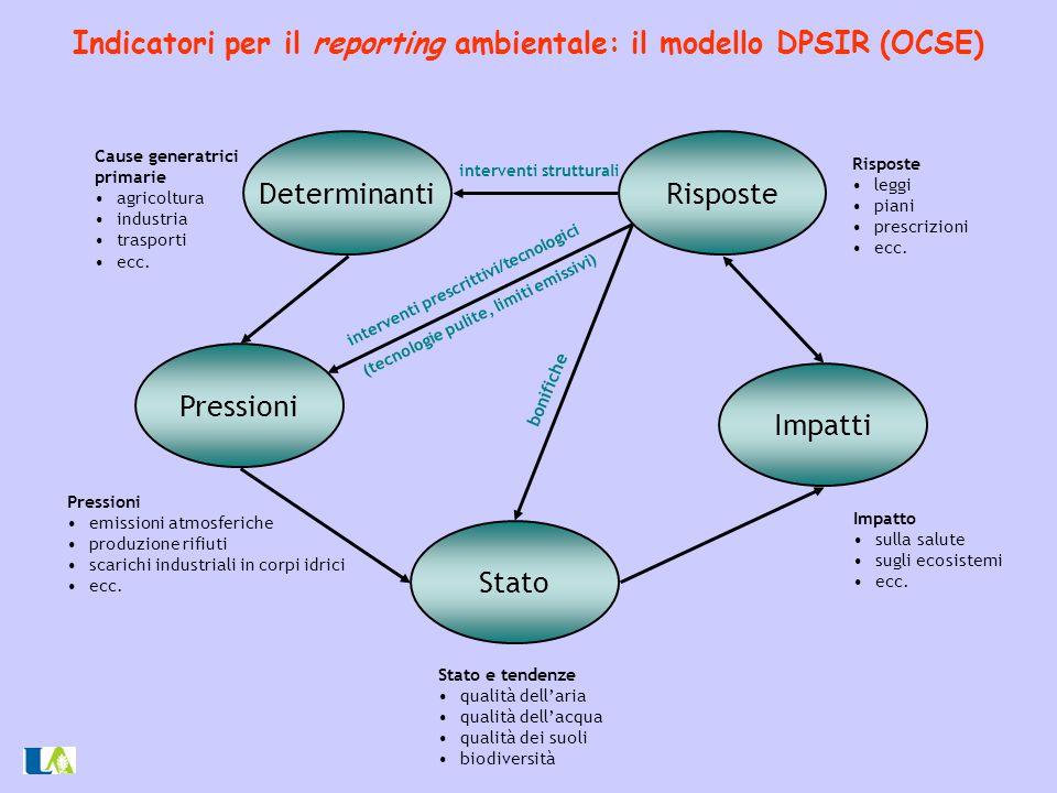 Indicatori per il reporting ambientale: il modello DPSIR (OCSE)