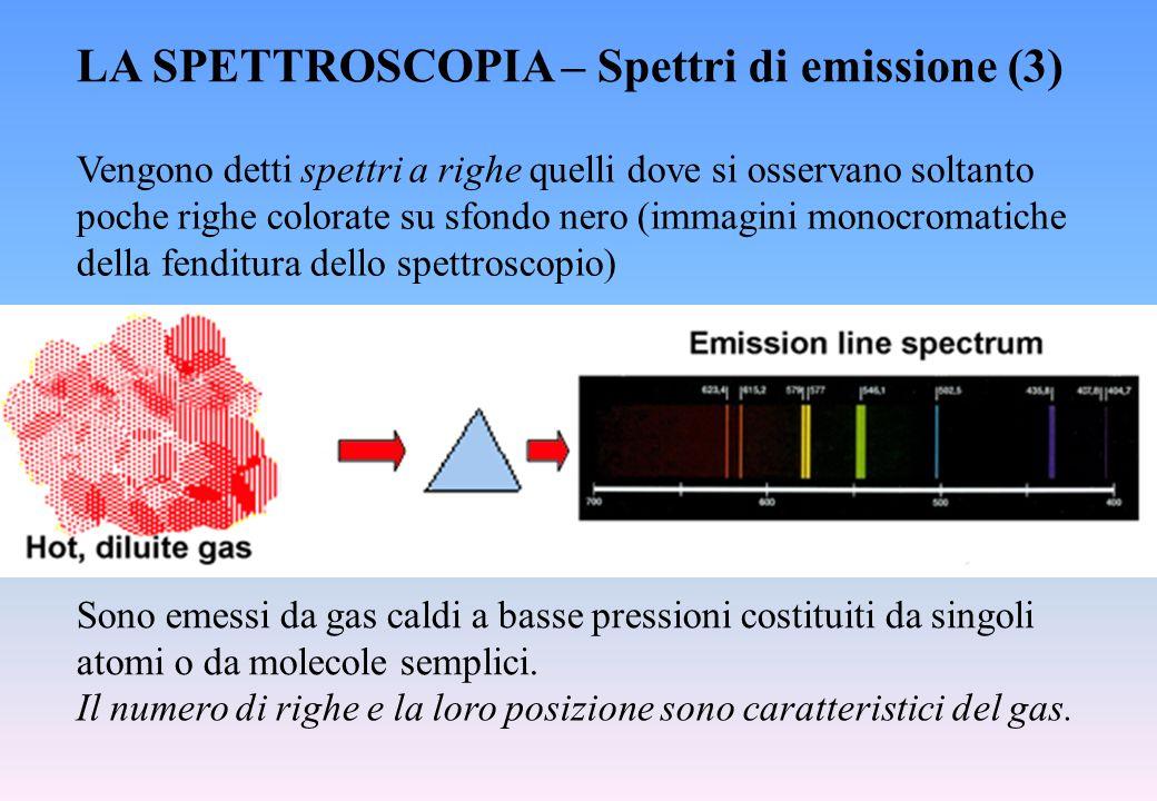 LA SPETTROSCOPIA – Spettri di emissione (3)