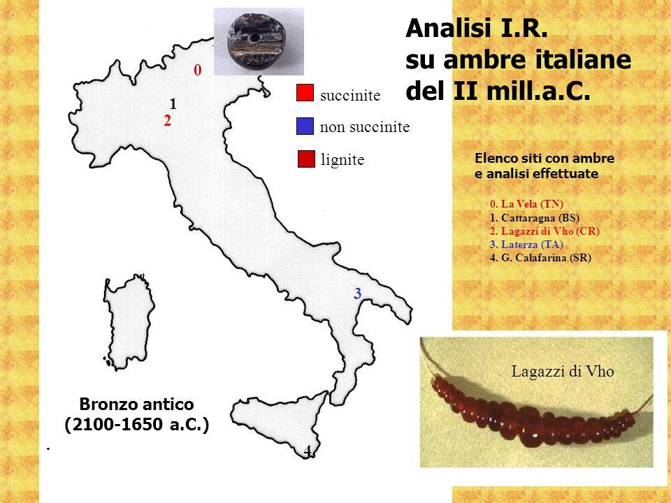 Analisi I.R. su ambre italiane del II mill.a.C. succinite 1 2