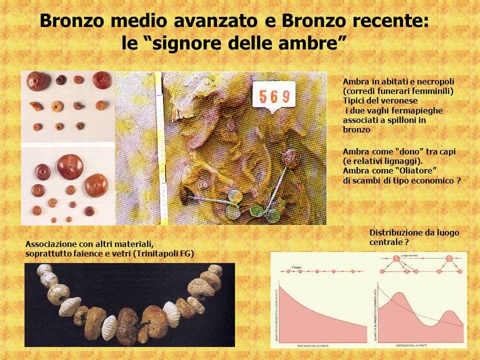Bronzo medio avanzato e Bronzo recente: le signore delle ambre