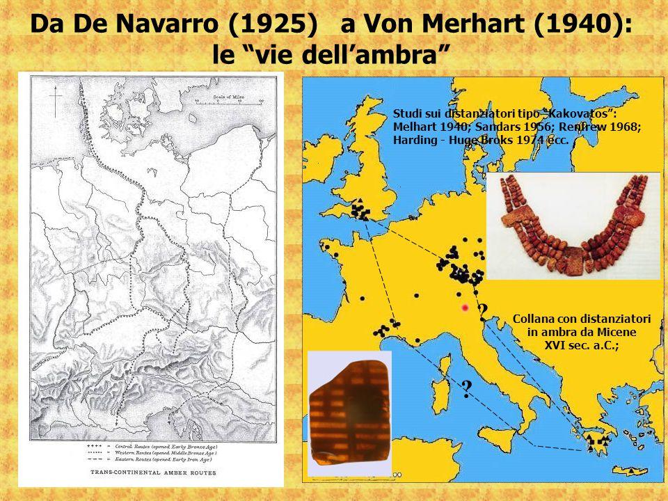 Da De Navarro (1925) a Von Merhart (1940): le vie dell'ambra