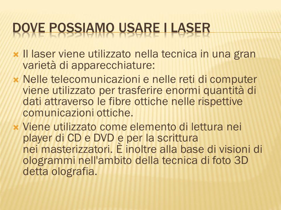 Dove possiamo usare i laser