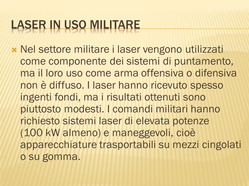 Laser in uso militare