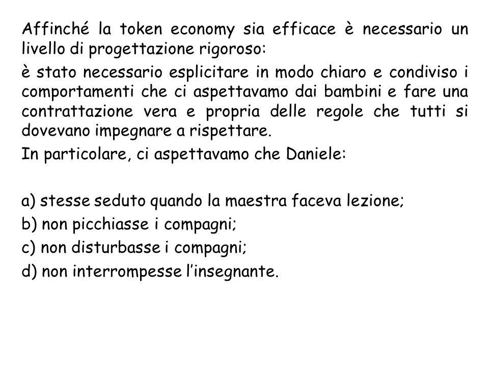 Affinché la token economy sia efficace è necessario un livello di progettazione rigoroso: