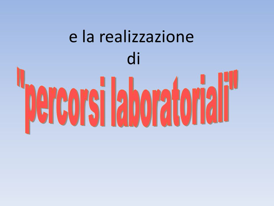 percorsi laboratoriali