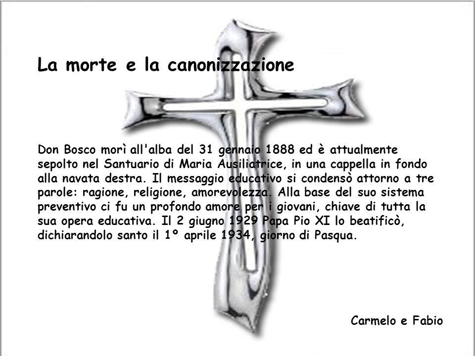 La morte e la canonizzazione