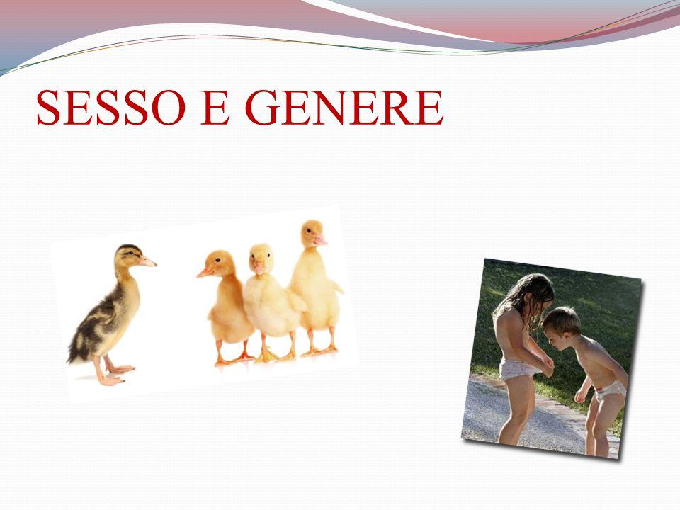 SESSO E GENERE