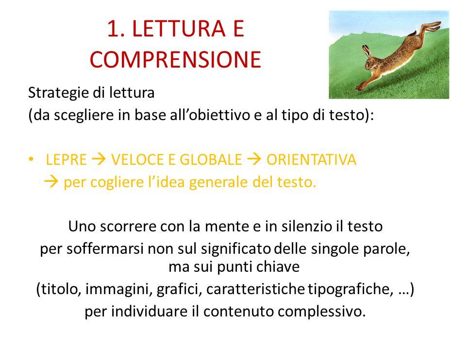 1. LETTURA E COMPRENSIONE