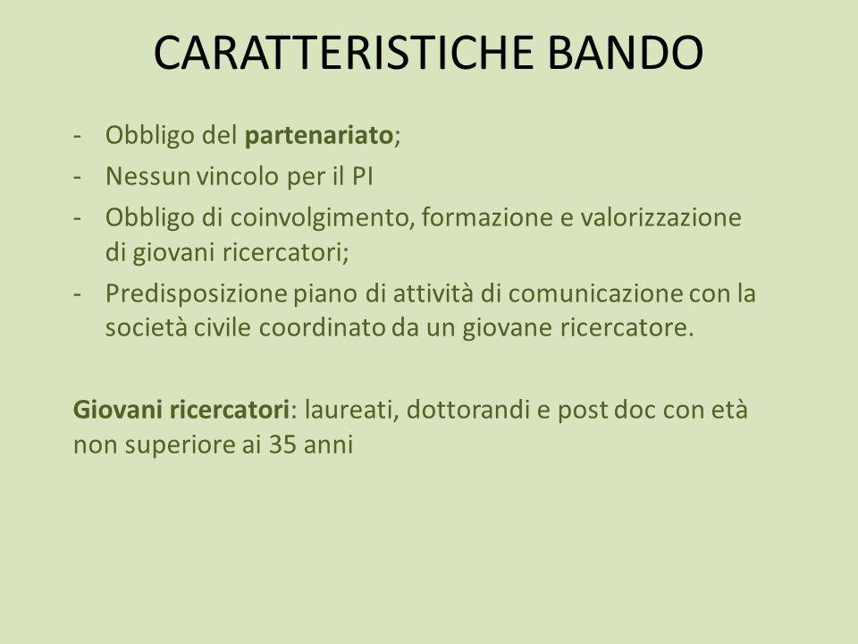 CARATTERISTICHE BANDO