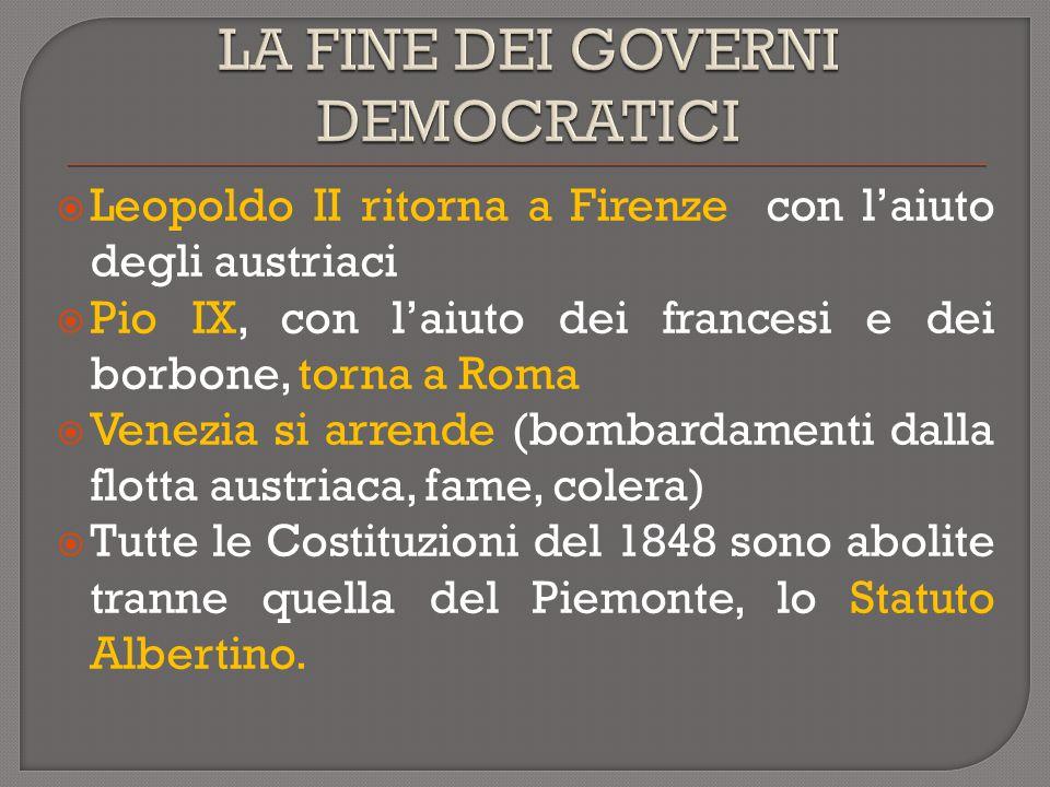 LA FINE DEI GOVERNI DEMOCRATICI