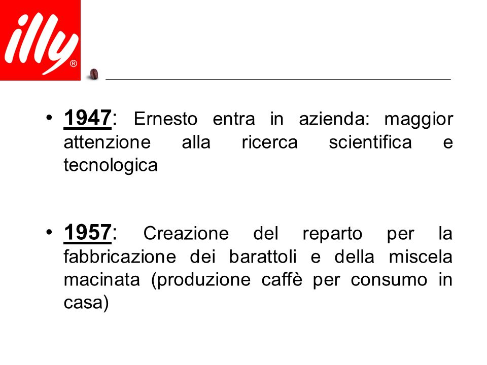 1947: Ernesto entra in azienda: maggior attenzione alla ricerca scientifica e tecnologica