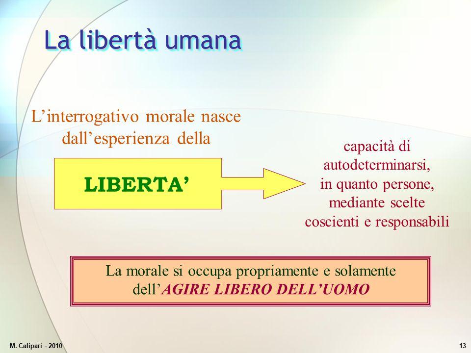 La libertà umana LIBERTA'