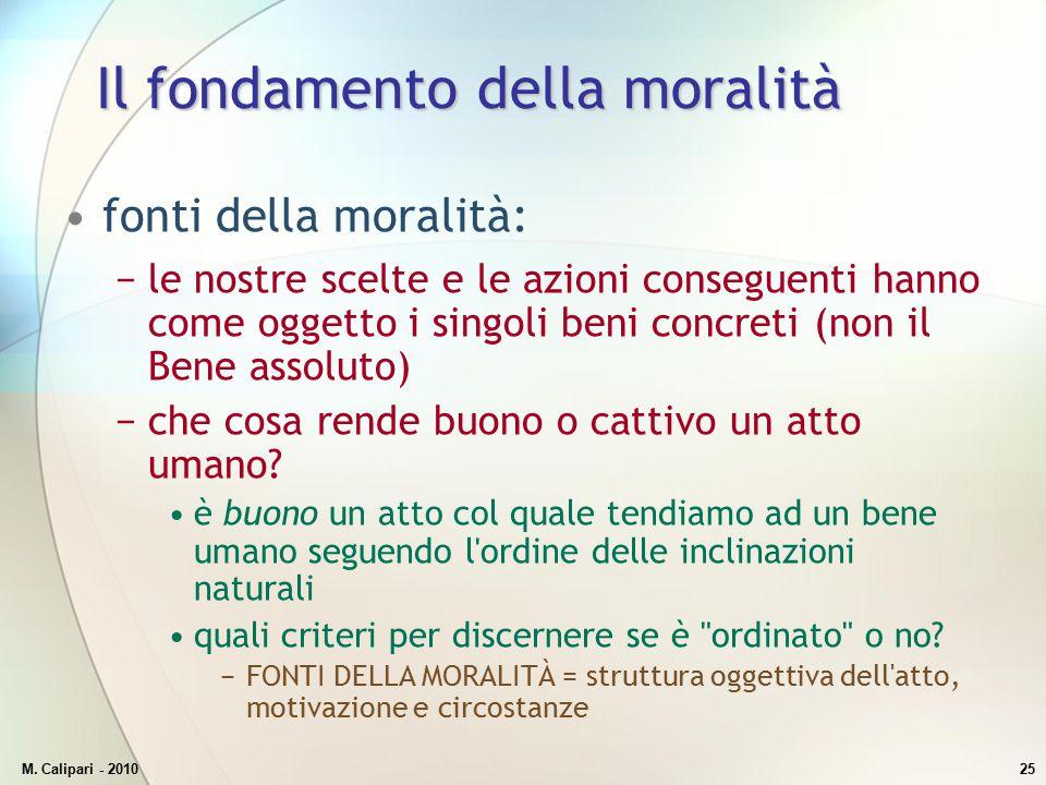 Il fondamento della moralità