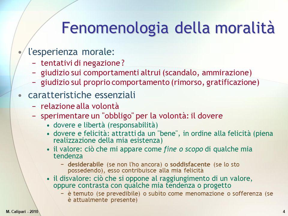 Fenomenologia della moralità