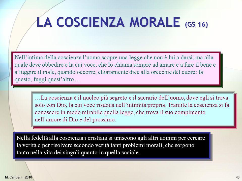 LA COSCIENZA MORALE (GS 16)