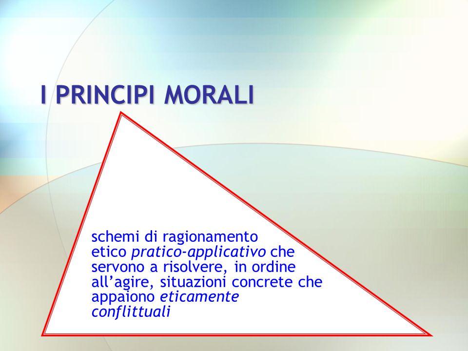 I PRINCIPI MORALI
