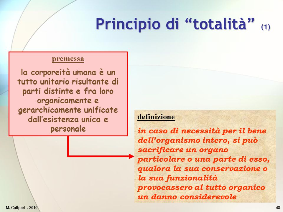 Principio di totalità (1)