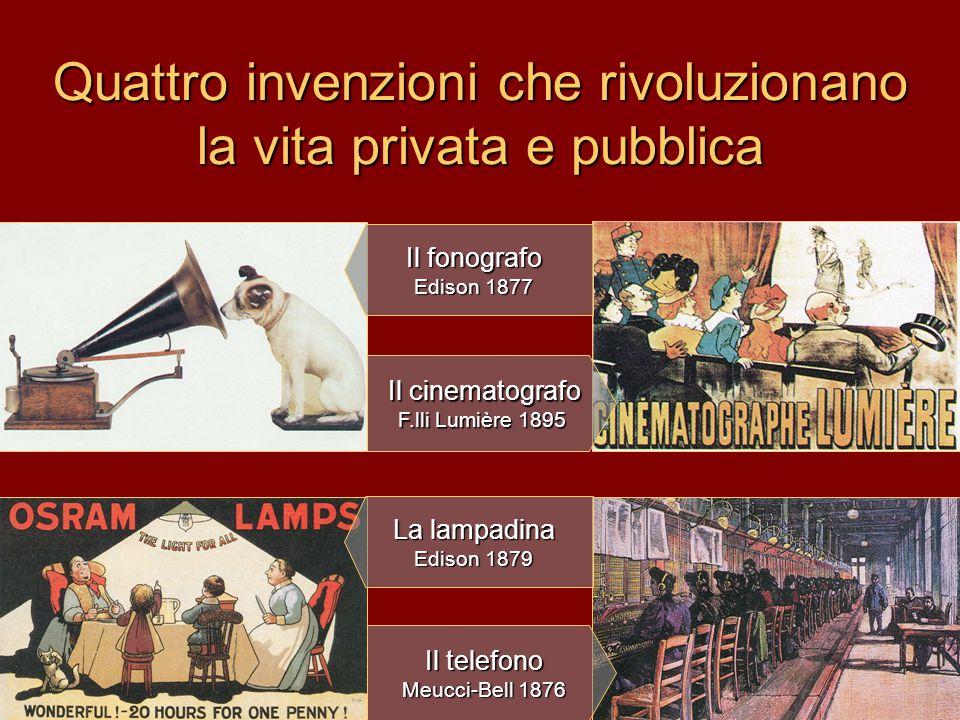 Quattro invenzioni che rivoluzionano la vita privata e pubblica