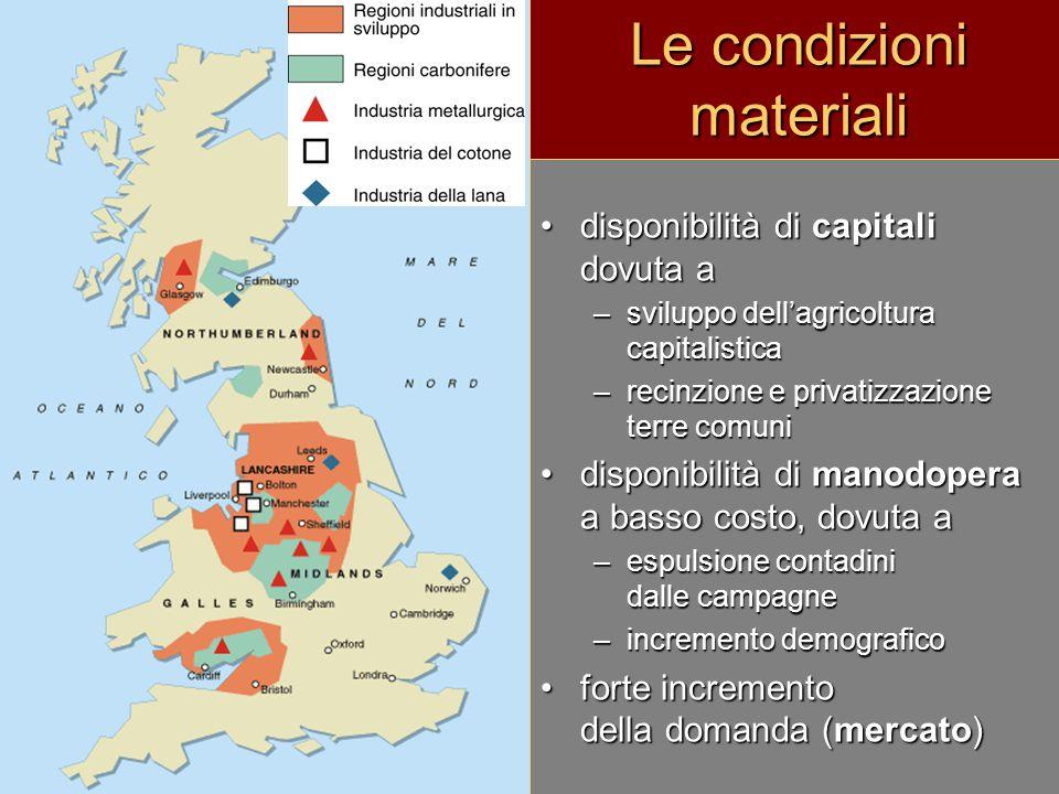 Le condizioni materiali