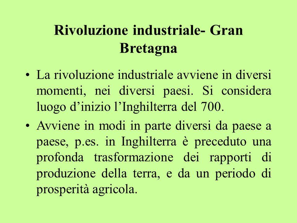 Rivoluzione industriale- Gran Bretagna
