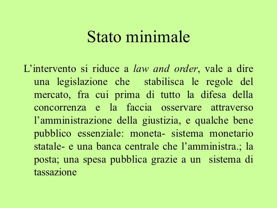 Stato minimale