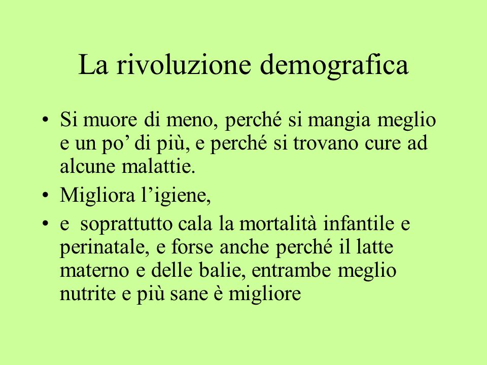 La rivoluzione demografica