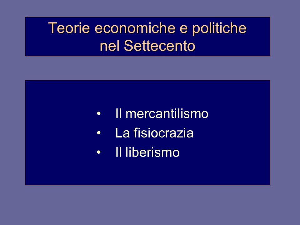 Teorie economiche e politiche nel Settecento