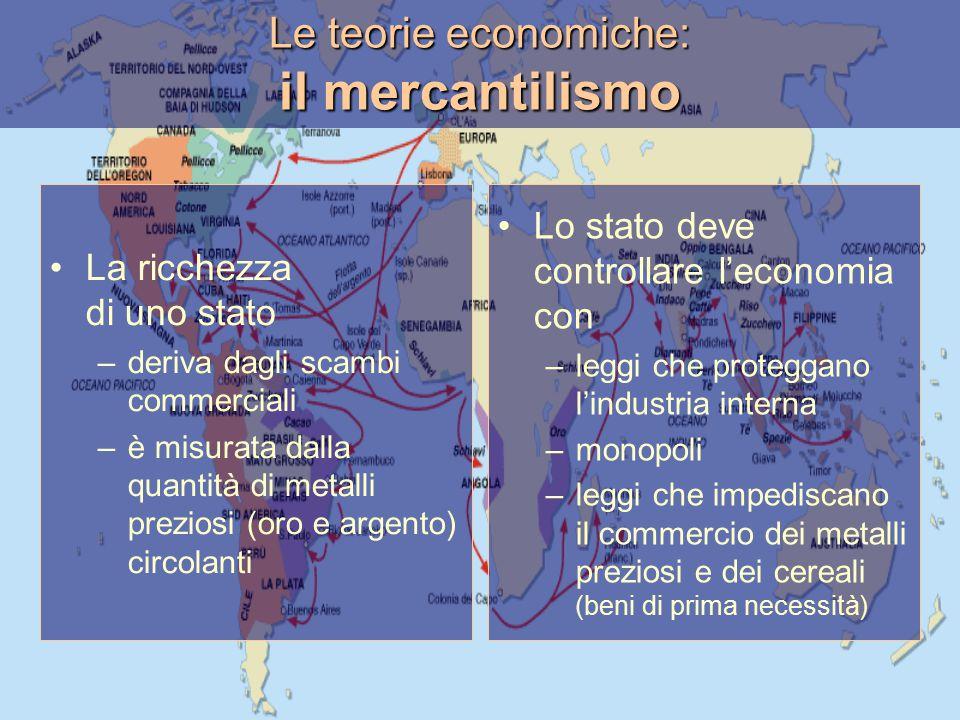 Le teorie economiche: il mercantilismo