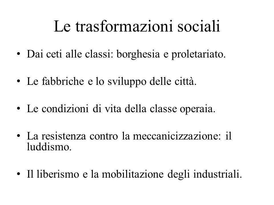 Le trasformazioni sociali