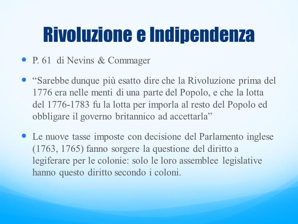 Rivoluzione e Indipendenza