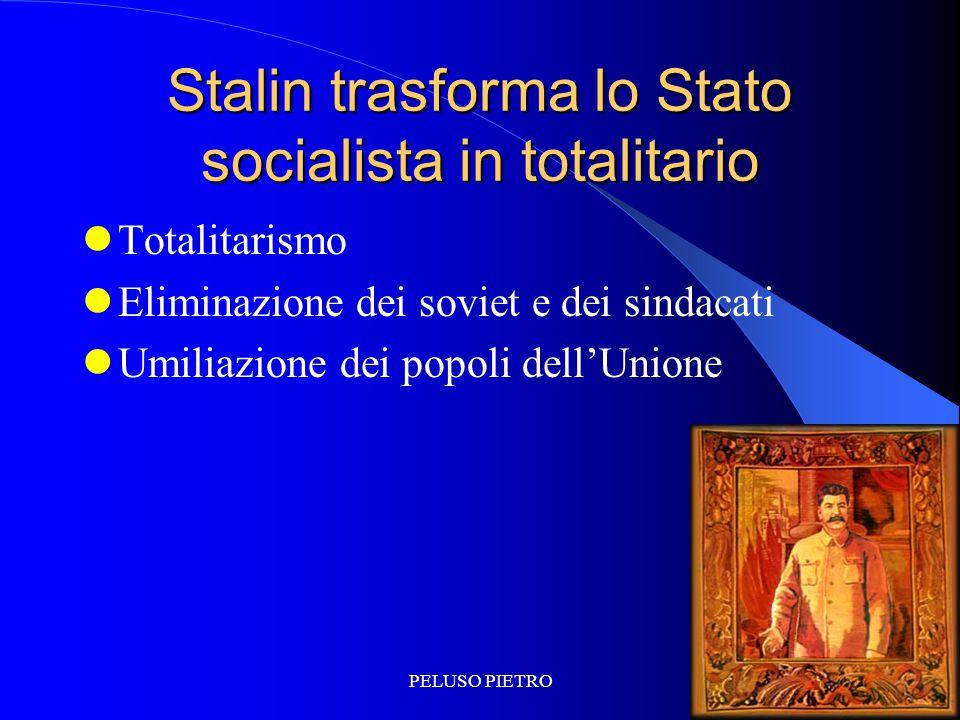 Stalin trasforma lo Stato socialista in totalitario