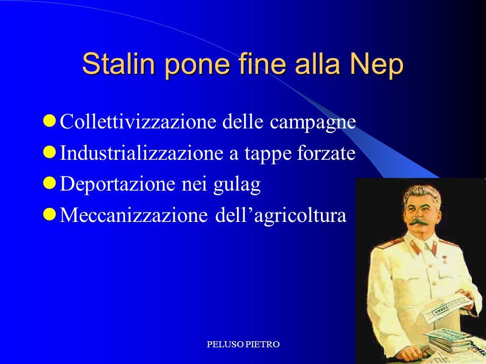 Stalin pone fine alla Nep