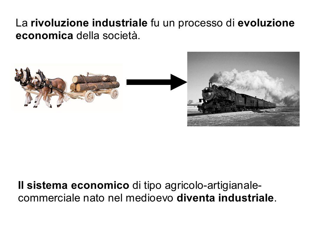 La rivoluzione industriale fu un processo di evoluzione economica della società.