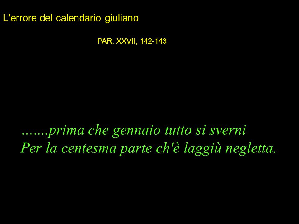 L errore del calendario giuliano