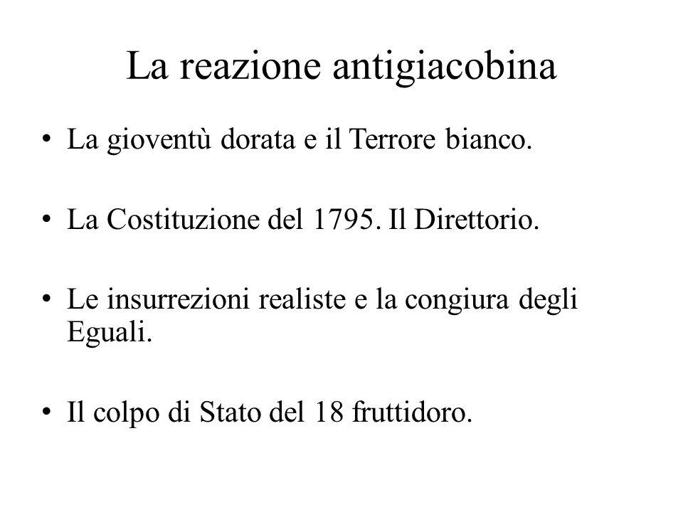 La reazione antigiacobina