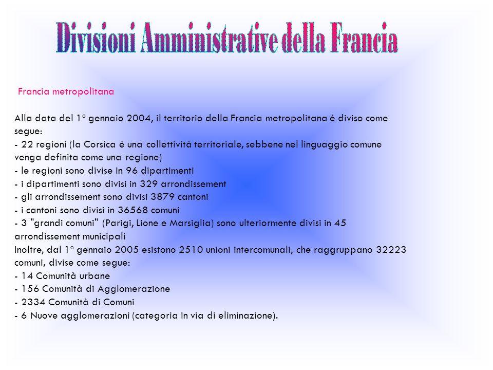 Divisioni Amministrative della Francia