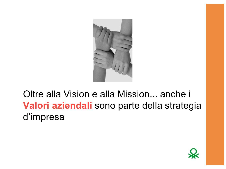 Oltre alla Vision e alla Mission