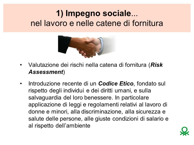 1) Impegno sociale... nel lavoro e nelle catene di fornitura
