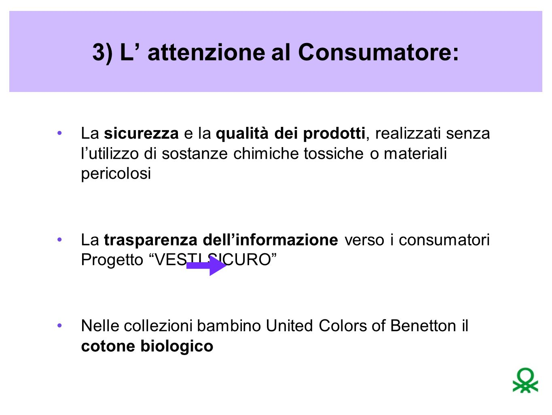 3) L' attenzione al Consumatore: