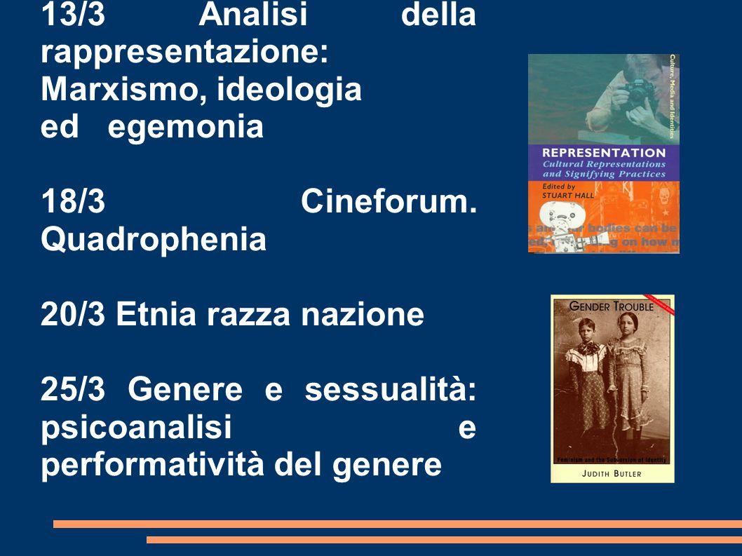 13/3 Analisi della rappresentazione: Marxismo, ideologia