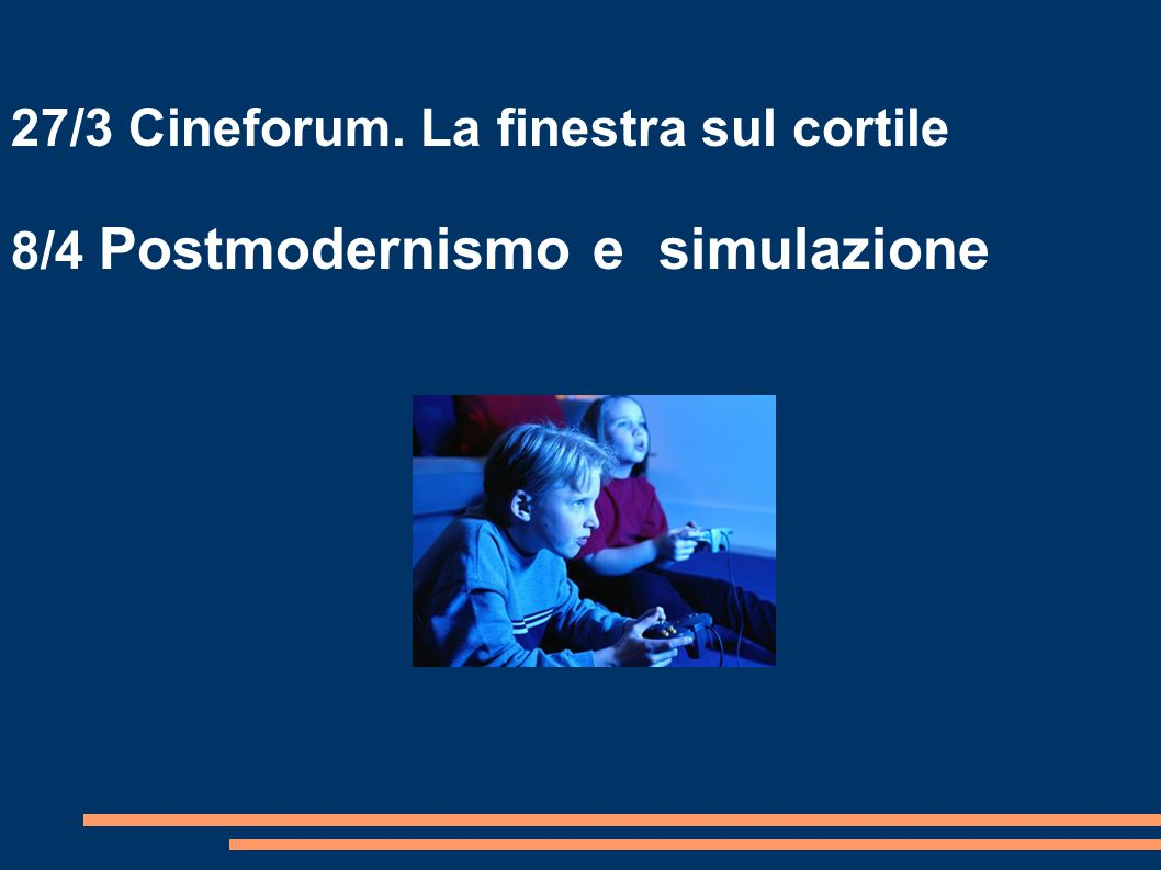 27/3 Cineforum. La finestra sul cortile