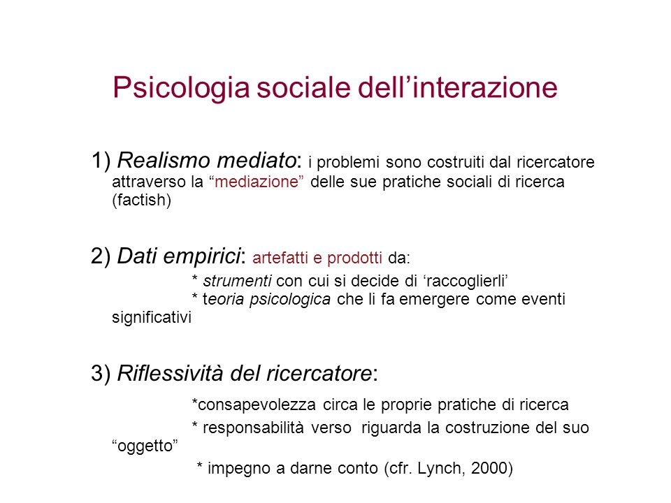 Psicologia sociale dell'interazione