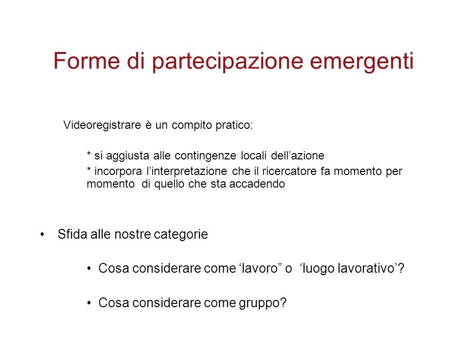 Forme di partecipazione emergenti