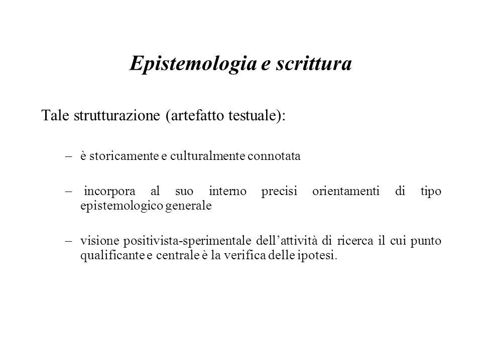 Epistemologia e scrittura
