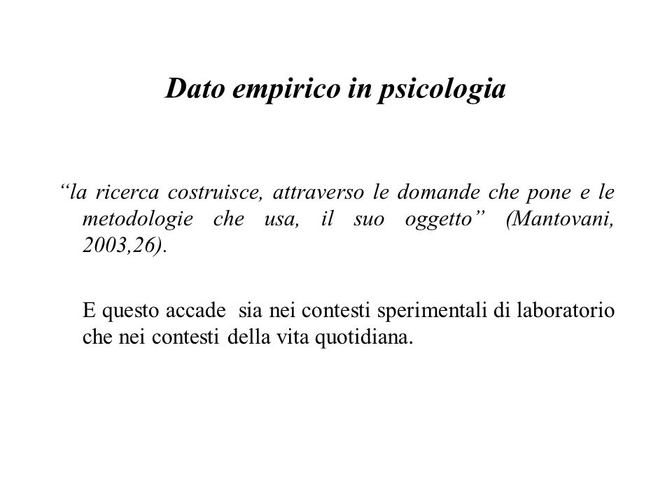 Dato empirico in psicologia