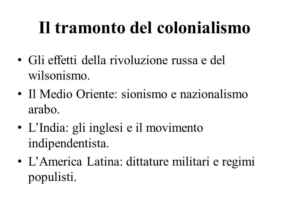 Il tramonto del colonialismo