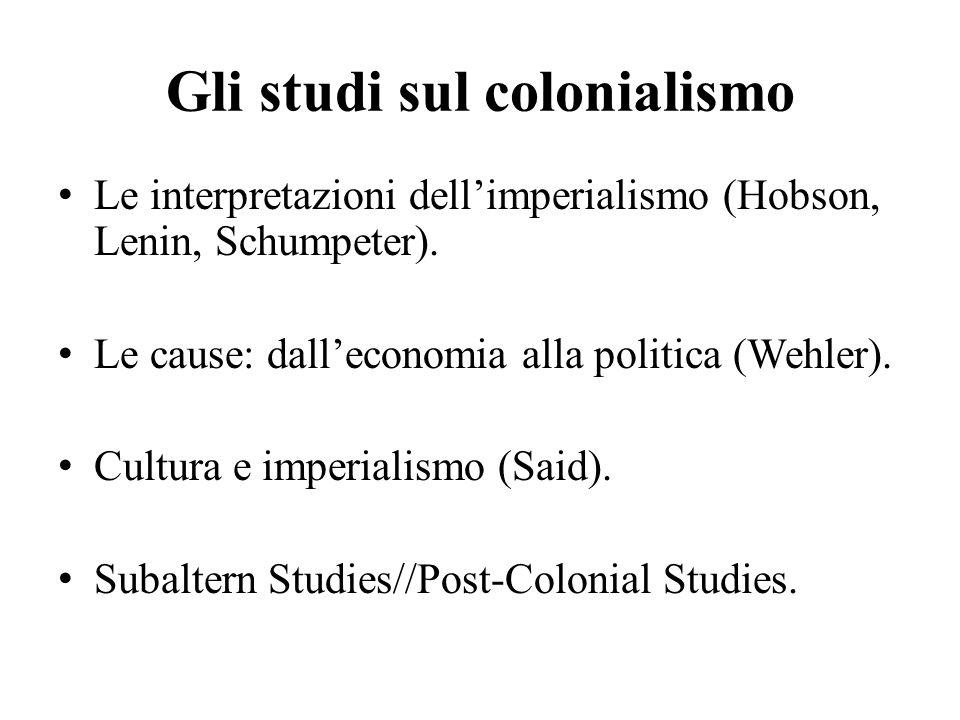 Gli studi sul colonialismo