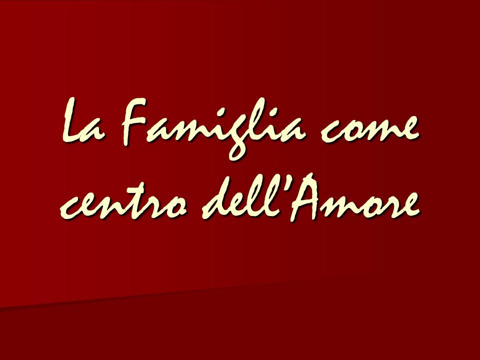 La Famiglia come centro dell'Amore