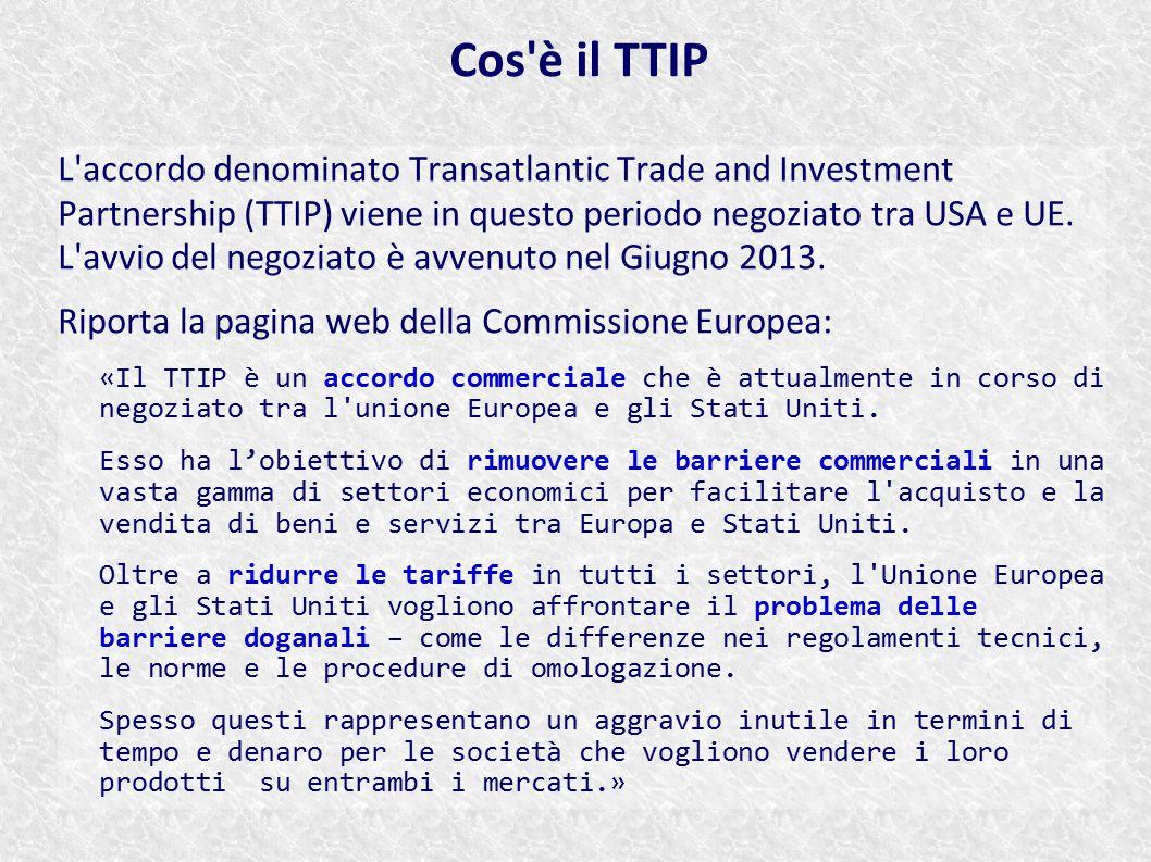 Cos è il TTIP