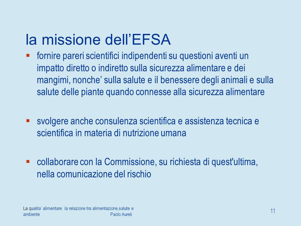 la missione dell'EFSA